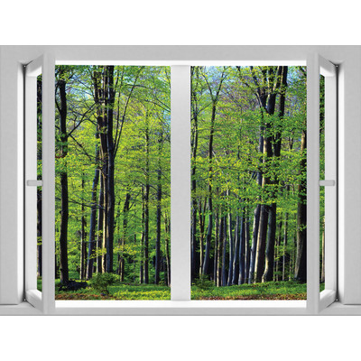JP London AMD7A013 Removable Forest Large Window Wall Mural 4 feet by 3 feet