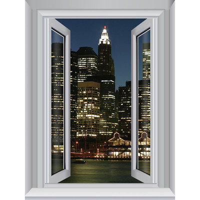 JP London AMD7A017 Prepasted Removable Jersey Large Window Wall Mural 4 feet by 3 feet