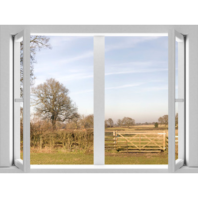 JP London AMD7A018 Prepasted Removable Home Sweet Large Window Wall Mural 4 feet by 3 feet