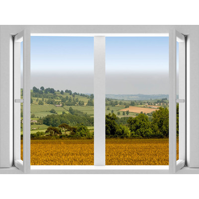 JP London AMD7A024 Prepasted Removable Hillside Country Valley Large Window Wall Mural 4 feet by 3 feet