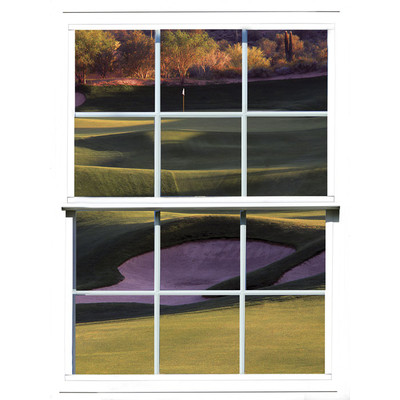 JP London UMB91125 Large Prepasted Removable Sand Trap Golf Window Wall Mural 4 feet high by 3 feet wide