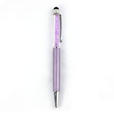 2 X Luxurious Crystal Multi-purpose Stylus Pen - Purple