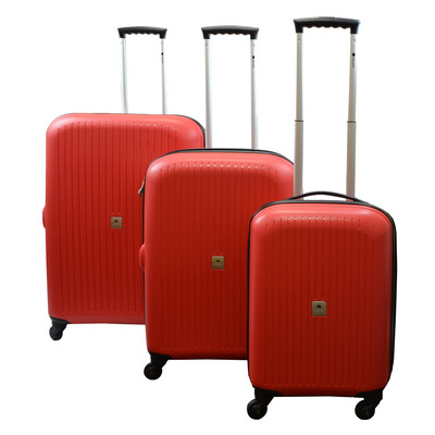 Delsey Club 3-pc. Hardside Luggage Set - Red
