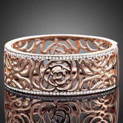 18K Gold Plated Vine Cuff Bracelet