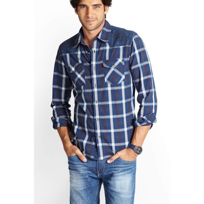 Guess AUSTIN TAYLOR PLAID SHIRT