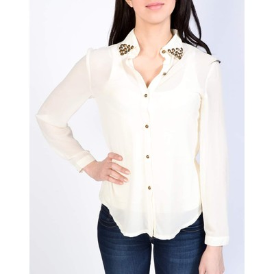 YDE Studio SOLID BLOUSE WITH STUDS