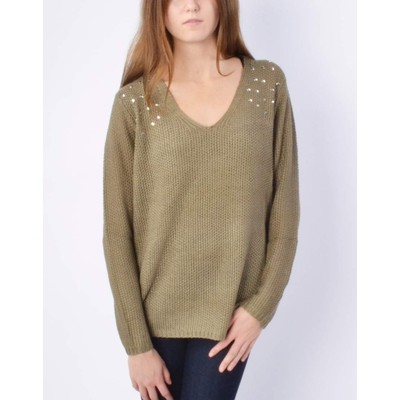 RD - Razzle Dazzle Sweater with Studded Shoulder
