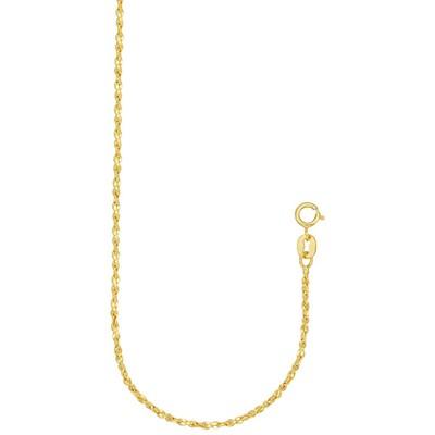 "Eliza 14K Gold Filled Yellow 7.5"" Twisted Serpentine Bracelet"