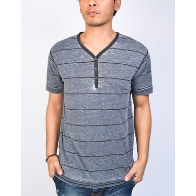 Projek Raw BURNOUT STRIPE HENLEY