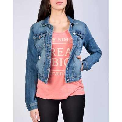 ONLY       WESTA MEDIUM BLUE DENIM JACKET