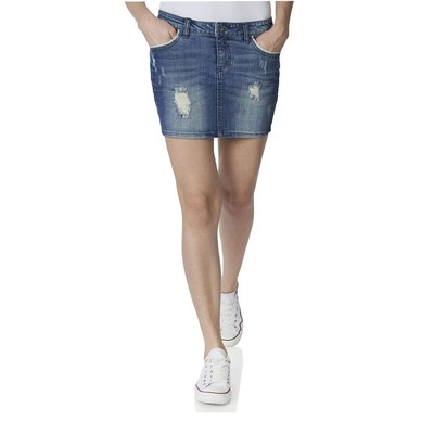 ONLY       CLAUDI LACE DENIM SKIRT