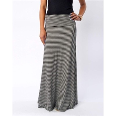Promesa Micro Stripe Maxi Skirt