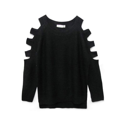 RD - Razzle Dazzle COLD SHOULDER SWEATER