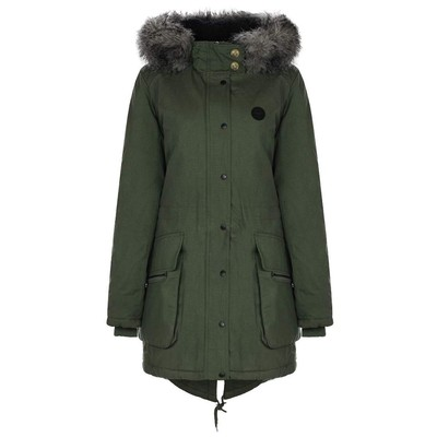 Bench WOLFISH PARKA WITH FAUX FUR TRIM HOODY