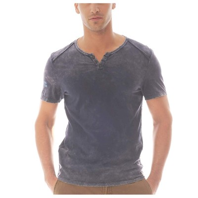 Buffalo Jeans DISTRESSED HENLEY TEE