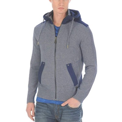 Buffalo Jeans LONG SLEEVE MELANGE ZIP HOODY