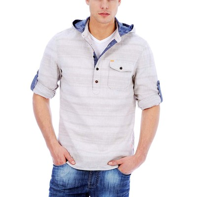 Buffalo Jeans SANGUS HOODED BUTTON UP HENLEY
