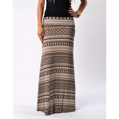 B-Envied Tribal Maxi Skirt