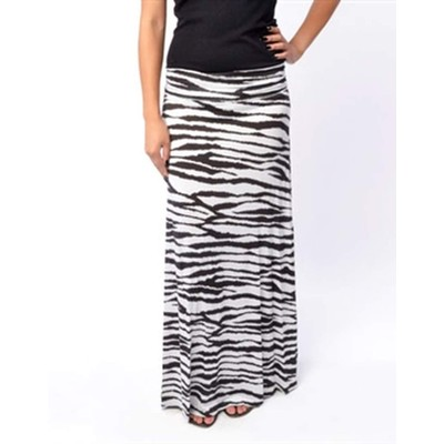 B-Envied Zebra Maxi Skirt