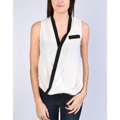 YDE Studio CROSSOVER DRAPED BLOUSE