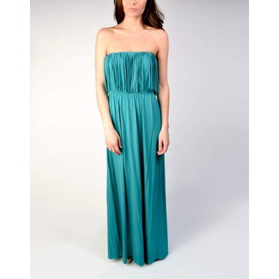 YDE  STRAPLESS FRINGE MAXI DRESS