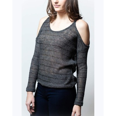 Sweet Claire COLD SHOULDER SWEATER WITH SEQUINS