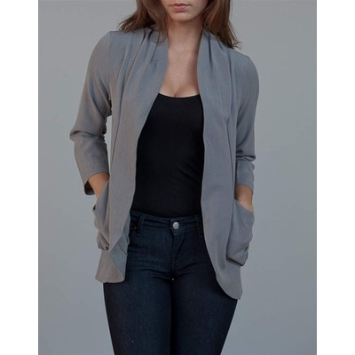 YDE Studio 3/4 Sleeve Blazer with Large Pockets