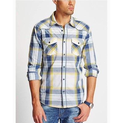 Guess TROPIC PLAID BUTTON UP SHIRT
