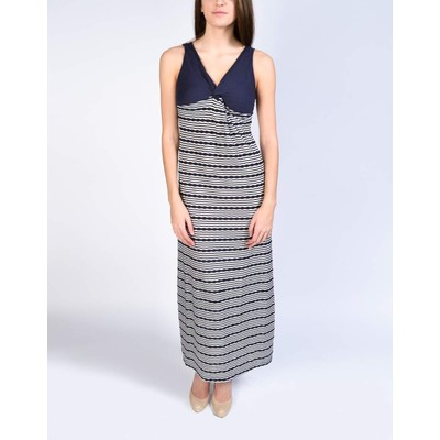 YDE  STRIPED JERSEY MAXI DRESS