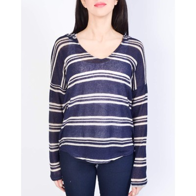Sweet Claire STRIPED HOODED SWEATER