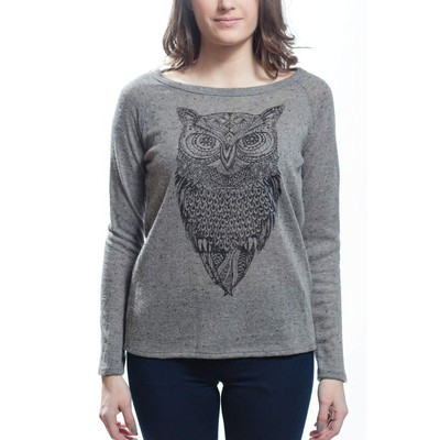 Sweet Claire TRIBAL OWL PRINT SWEATER