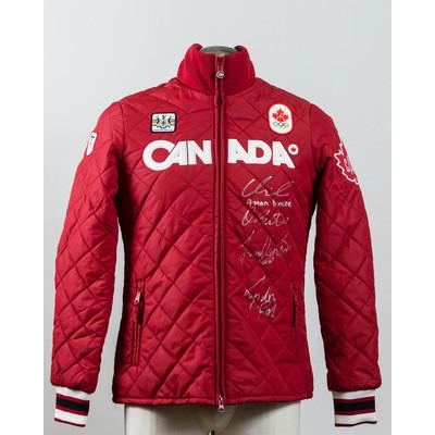 Men's Vancouver 2010 Bronze Medalist men four-man Autographed Podium Jacket