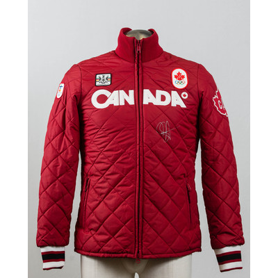 Men's Vancouver 2010 Gold Medalist Jasey Jay Anderson Autographed Podium Jackett