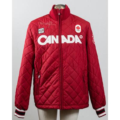 Men's Vancouver 2010 Gold Medalist Maëlle Ricker Autographed Podium Jacket