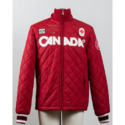 Men's Vancouver 2010 Silver Medalist Marianne St-Gelais Autographed Podium Jacket