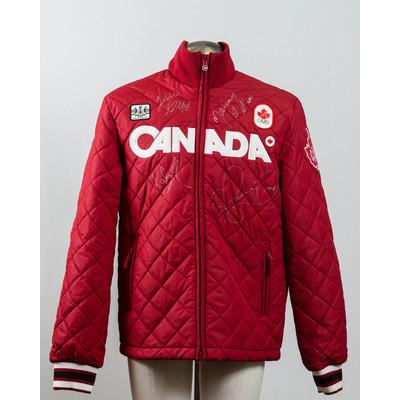 Men's Vancouver 2010 Silver Medalist women short track speed skating team Autographed Podium Jacket