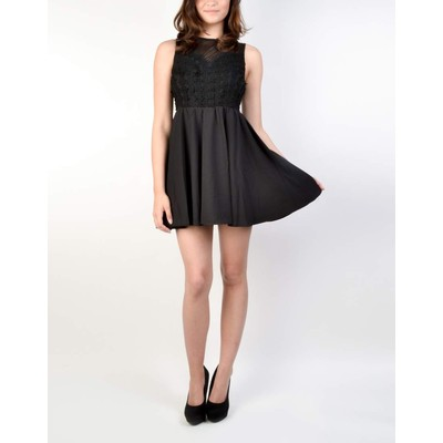 YDE Studio MESH DETAIL SKATER DRESS