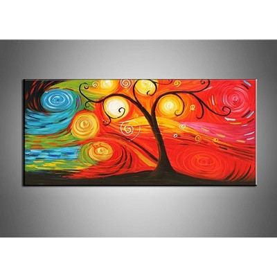 Abstract Tree Painting - 32 x 16 IN