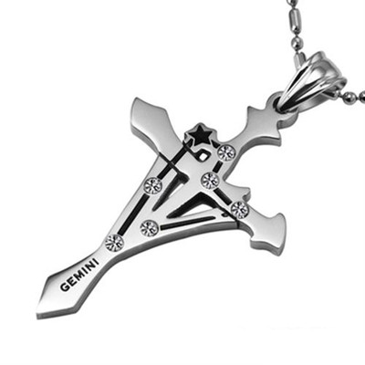 Stainless Steel Gemini Pendant