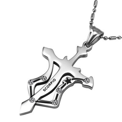 Stainless Steel Scorpio Pendant