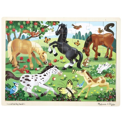 Melissa & Doug Frolicking Horses Jigsaw (48 pieces)
