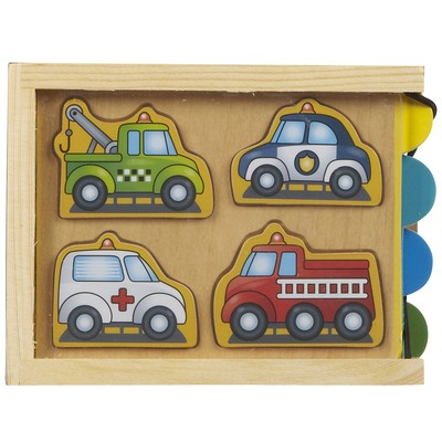 Melissa & Doug Vehicles Mini Puzzle Pack (4 pieces)