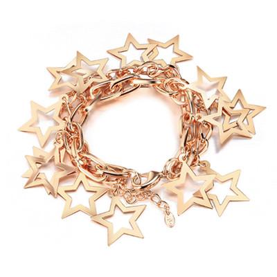 14K Gold Plated Star Chain Bracelet