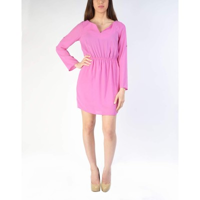 Caramela SOLID SPLIT ROLL UP DRESS