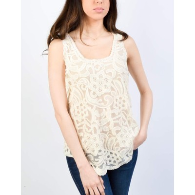 YDE Studio LACE TANK WITH SHIRT TAIL
