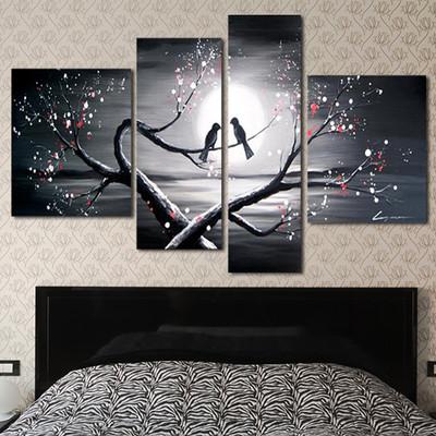 Romance Art Painting Love Birds 1221 - 66x32in