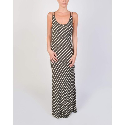 Naked Zebra BIAS STRIPE MAXI DRESS
