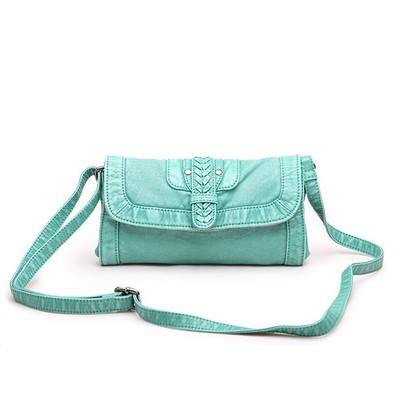 Lipstick Green Luxanne Cross Body Bag