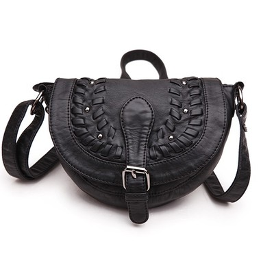 Shine Black Luxanne Cross Body Bag