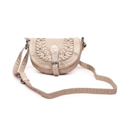 Shine Taupe Luxanne Cross Body Bag
